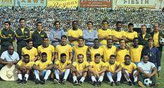 """Selección de Fútbol de Brasil, Campeonato del Mundo """"México 70"""" Estadio Irapuato."""