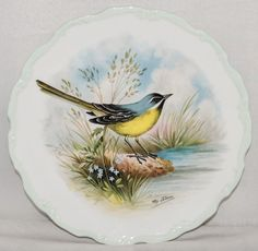 "Royal Albert THE WOODLAND BIRDS COLLECTION Yellow Wagtail 8.5"" Bone China Plate"
