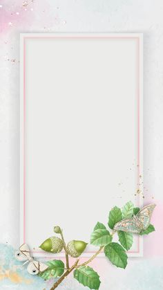 Download premium vector of Oak leaves with rectangle pink frame mobile phone wallpaper vector by Tang about butterfly, glitter frame, Blue frame design, butterfly wallpaper, and background 1214119