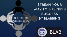 How to use Blab video chat for B2B and incorporate this new live streaming app into your marketing strategy. #blab #videochat #livestreaming #b2b