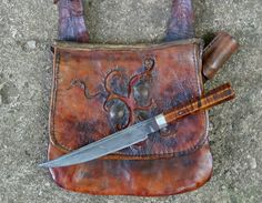 Contemporary Makers: Hunting Pouch by Joe Mills ~~ Would make a great rustic purse with the added bonus of being able to carry a protective knife.