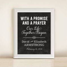 Custom Wedding Date  With a Promise and a by AnneGarrisonStudio