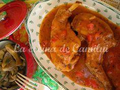 La cocina de Camilni: Conejo con cerveza y guarnición de setas
