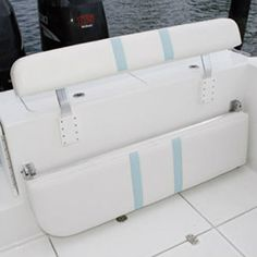 Take your boating and fishing experience to a whole new level with Folding Rear Bench Seat of Birdsall Marine Design. Pontoon Accessories, Ranger Boats, Center Console Fishing Boats, Boat Bed, Boston Whaler, Boat Restoration, Boat Seats, Camper Storage, Boat Interior