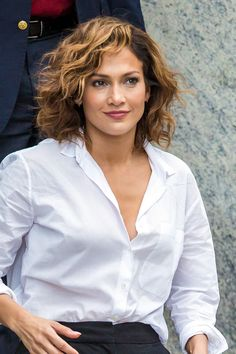 Jennifer Lopez Take a cue from her Shades of Blue character and rock natural curls with this short and full-bodied style.                                                                                                                                                                                 More