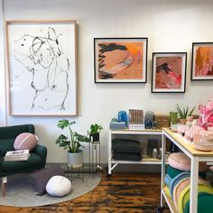 Here she is. The new Bungalow. Art on the walls is always the killer touch. These pieces by our favourite @alimcnabneystevens and new artist for Bungalow @ellecampbellart   Opening tomorrow at 9.30  511 Highett Rd, Highett.   #bungalowopenstomorrow #hellohighett #newshop #bungalowtradingco