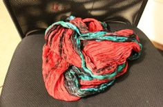 Crinkled Silk Loop Scarf at Free People Clothing Boutique