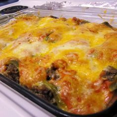 Recipe For Stuffed Chili Relleno Casserole - Peppers makes your metabolism speed up. Great dish for Cinco de Mayo not too spicy - 6 Servings- going to try with my low carb green enchilada sauce. Thm Recipes, Spicy Recipes, Mexican Food Recipes, Chicken Recipes, Cooking Recipes, Pepper Recipes, Dinner Recipes, Poblano Recipes, Gastronomia