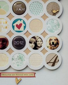 very cool idea - but i would use wrapping paper or fabic behind the circles