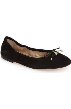 4f6cba6f336  Felicia  Flat. Black Ballet ShoesBlack ...