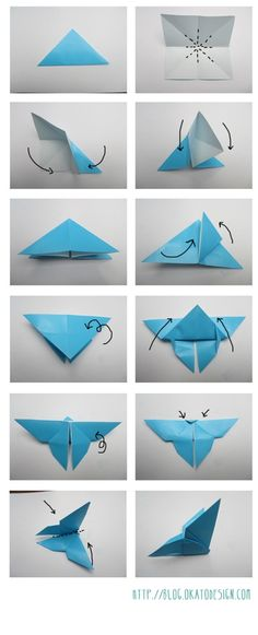 Tuto Origami : papillon