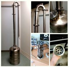 Homemade Stills – Send Us Your Setup – Learn to Moonshine How To Make Moonshine, Moonshine Still, Making Moonshine, Homemade Still, Reflux Still, Alcohol Still, Column Still, Distilling Alcohol, Still Spirits