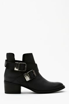 Grizz Strapped Boot in Shoes Boots at Nasty Gal