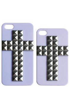 Cross-Shaped Studs iPhone Case - Lavender