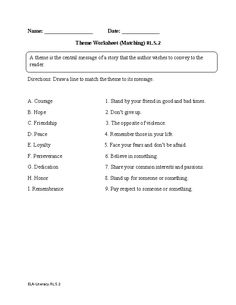 Worksheets Theme Worksheets 5th Grade theme worksheets 5th grade delibertad character development worksheet ela literacy rl 3 reading bartering for basics comprehension worksheet