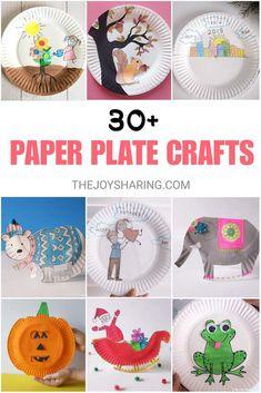 30+ Paper Plate Art & Craft Ideas Credits: thejoysharing.com