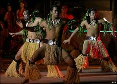 Tahitian dance troupe performs at the Pan-African Festival of Cinema and television in Ouagadougou (Fespaco)