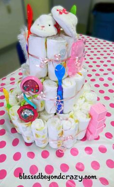 Baby Shower Charades and DIY Diaper Cake