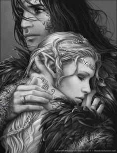 Cassian and mor acotar fantasy art, art y throne of glass Fantasy Magic, Fantasy World, Fantasy Love, Beautiful Fantasy Art, Iron Fey, Throne Of Glass Series, Throne Of Glass Fanart, Throne Of Glass Books, Illustration
