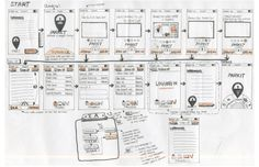 mobile design wireframe sketches