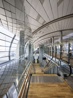 Image 5 of 82 from gallery of Oslo Airport Expansion / Nordic Office of Architecture. Photograph by Ivan Brodey Oslo Airport, Perth Airport, Stockholm Shopping, Airport Design, Mall Of America, North America, London Pubs, Beach Trip, Beach Travel