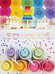rainbows + ruffles {party by Paiges of Style}