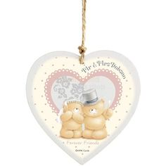 Personalised Forever Friends Wedding Wooden Heart  from Personalised Gifts Shop - ONLY £10.95