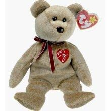 FREE SHIPPING TY Beanie Babie 1999 Signature Bear was one of the Series of Signature Bears. This Bear has a red TY heart with the Year 1999 and a replica of the Warner signature TY embroidered on his chest. This TY Beanie Babie Bear is 8 inches ta...