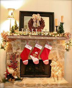 Christmas Mantel....