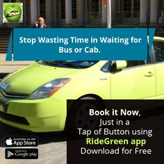 Stop wasting time in waiting for bus or cab. Book it now just in a tap of button using RideGreen app.  Download for free from either App Store or Google Play.  iTunes Download Link: https://itunes.apple.com/us/app/ridegreen/id1160674477?mt=8  Play Store Download Link: https://play.google.com/store/apps/details?id=com.ridegreen.rider&hl=en  #GreenCabsNY #RideGreenApp #GreenTaxiService