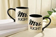 Mr. and Mrs. Right Coffee Mugs by Grasslands Road