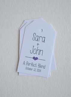 Perfect Blend  White Matte Small Label Tags  by BugandBearDesign, $6.50