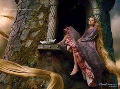 Taylor Swift as Rapunzel for Disney Dream Portrait. Photo by Annie Leibovitz(x)