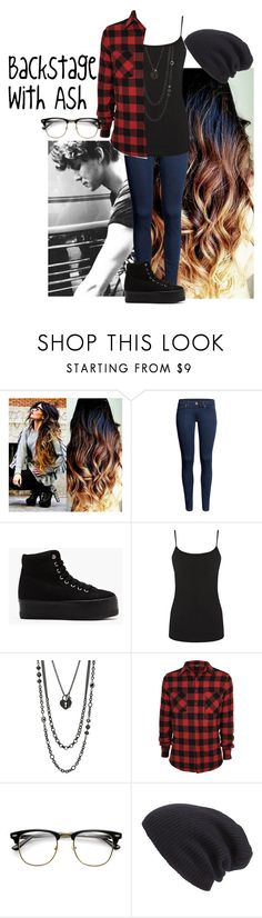 """""""Backstage with Ash"""" by jessicabelcourt ❤ liked on Polyvore featuring H&M, Jeffrey Campbell, Warehouse, Lane Bryant, Leith and ashtonirwin"""