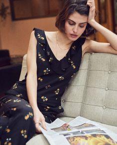 d0e0cf53426 Pop Corn Flowers black silk jumpsuit - WOMAN Silk Jumpsuit