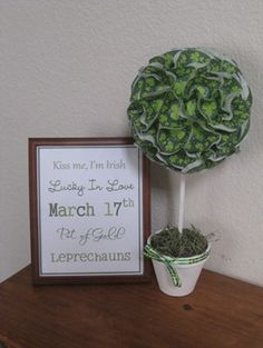 St. Patrick's Day crafting