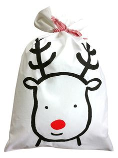 Reindeer Santa Sack - Pillowcase – Henry and Co Homewares