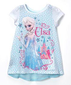 Loving this White Elsa Chiffon Tunic - Toddler & Girls on #zulily! #zulilyfinds