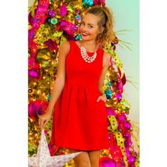 Santa, Baby Dress-Holly Berry - $48.00