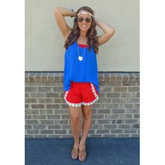 Cross the Line Lace Shorts in Red