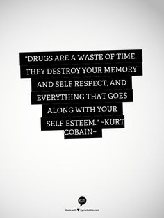 Except for weed lol - There is no glory in addiction. The party doesn't truly…