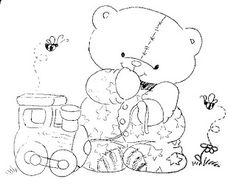 ursinhos para pintura em fralda - Pesquisa Google