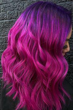 Hair Color Streaks, Men Hair Color, Hot Hair Colors, Hair Color For Black Hair, Cool Hair Color, Red Hair, Pink Purple Hair, Hair Color Purple, Purple Rain