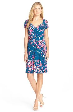 Leota Print Jersey Fit & Flare Dress available at #Nordstrom