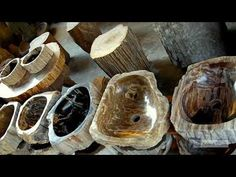 Petrified Wood Basins | IndoGemstone