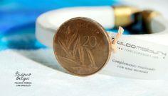 Pulsera realizada con un franco belga