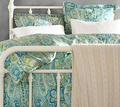 Rosalie Paisley Duvet Cover  Sham - Blue #potterybarn For $40 and 20% off, I cannot pass this up! I am going to buy this today!