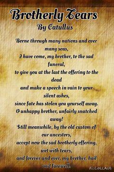 Poem by Catullus. Original was in Latin