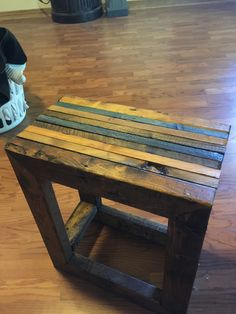 Scrap wood side table