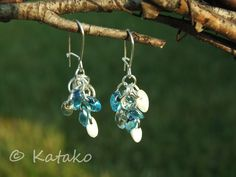 Katako: Kolczyki Smerfy Earrings